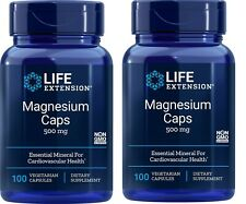 Life Extension Magnesium Caps 500mg 100 Caps - 2 bottles