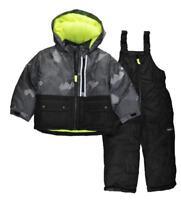 Osh Kosh B'gosh Boys Black Printed Snowsuit Size 2T 3T 4T 4 5/6 7