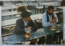 Plakat Poster - Löwenbräu  Biergarten Oktoberfest Brauereiwerbung München Bayern