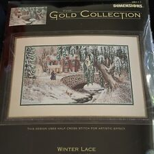 Dimensions Gold Collection Winter Lace Sealed Cross Stitch Kit NEW