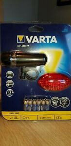 "VARTA CY-LIGHT LED Front & Rear Cycle Lamp Varta Ref: 15803 ""Flashing Mode"" NEW"