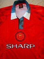 MANCHESTER UNITED FAN POLO Jersey Shirt Soccer Football Kit VAPA-TECH MENS L EPL