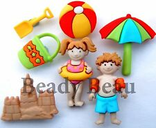 Day At The Beach novelty Dress it up plastic craft buttons