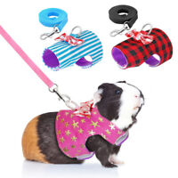 Pet Small Animal Harness With Leash Squirrel Hamster Rat Pet Clothes XS-M