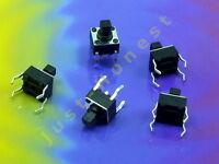 Stk. 5 x Taktil Schalter (Taster) / Tact Switch (4 pin) 7 mm Reset Arduino #A657