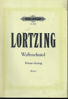 LORTZING ~ Der Waffenschmied - Klavier-Auszug mit Text D