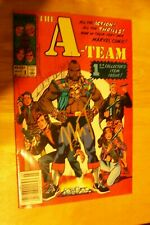 Autographed A-team comic #1 by george peppard and mr. t