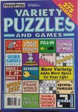 Penny Press Variety Puzzles and Games Sept 2017 275 Puzzles FREE SHIPPING sb