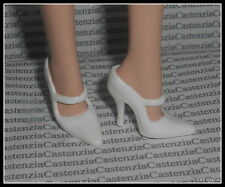 SHOES BARBIE DOLL THE WAITRESS SILKSTONE MODEL MUSE WHITE  MARY JANES HIGH HEEL
