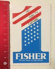 ADESIVI/Sticker: Fisher-The fine nome in alta fedeltà (04061686)