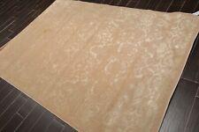 "5'6"" x 8' Karastan Transitional Wool & Silk Oriental Area Rug Taupe"