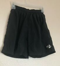 Trek Mens Biking Shorts Lined Padded Crotch Baggy Nylon Black Size: Small