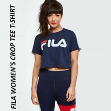 Fila Women Girl Jess Crew Neck Crop Tee T-Shirt Gym Running Sports Yoga Exercise