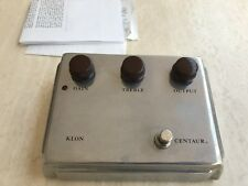 KLON CENTAUR Original Overdrive Pedal Like New Original Box And Manual