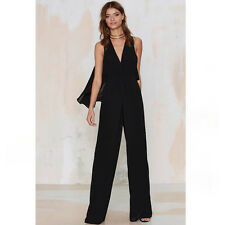Nasty Gal Paradise Found Plunging Jumpsuit Size Large NWT