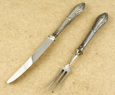 Antique Fork & Knife 800 Silver Handle 26x35mm