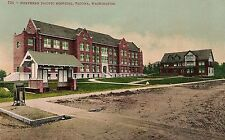 Northern Pacific Hospital in Tacoma WA Postcard