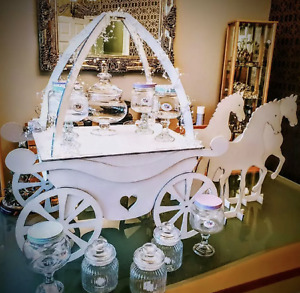 Y92 WEDDING CANDY CART SWEETS CAKES STALL CARTS DISPLAY STAND BARROW TROLLEY
