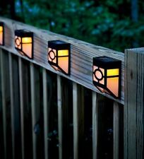 4x nero stile cinese Luce Solare a LED da Esterno montato a parete/giardino/patio Luce