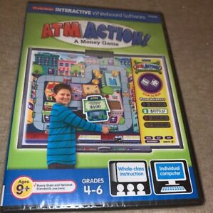 Lakeshore ATM Action Money Game Interactive Whiteboard Software Grades 4-6 NEW!!