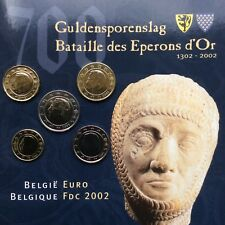 BELGIE 10 CENT T/M 2 EURO 2002 UNC <> IN BLISTER!!!