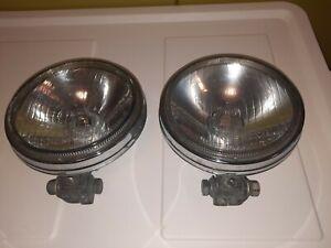 Vintage Chrome HELLA  4571 Fog Light Metal Germany Original Old Very Good