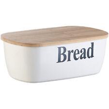 """Brotbox: Brotkasten """"Bread"""" mit Bambus-Schneidebrett-Deckel (Brottrommeln)"""
