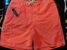 NEW 2XL BIG 2XB 2XLB Ralph Lauren POLO Swimsuit SALMON RED w ARMY GREEN PONY $70