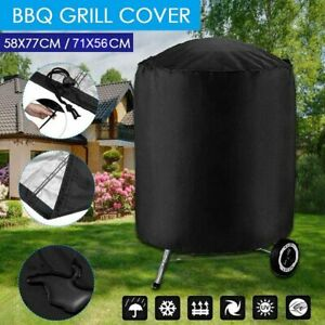 US Round Large Waterproof Outdoor Garden Kettle Barbecue/BBQ Chimney Grill Cover