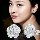 Women 925 Sterling Silver Ear Stud Hoop Dangle Earrings Wedding Bridal Jewelry
