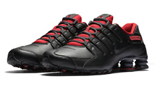 MEN'S SIZE 9.5 NIKE SHOX SNEAKERS NZ SE BLACK / GYM RED 833579 003 FAST SHIPPING