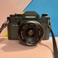 Ricoh SLX 500 35mm SLR Film Camera + Helios Auto Wide Angle F2.8 35mm Lens Lomo