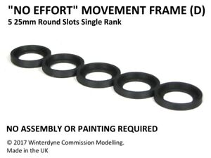 """""""No Effort"""" Movement Tray Frame(D), Suits Age of Sigmar, Warhammer, 25mm Round"""