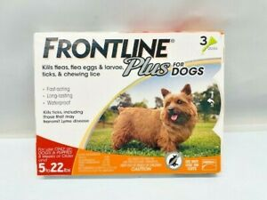 Frontline Plus Flea and Tick Control For 5-22 lb Dogs 3-Month supply