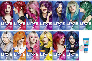 Schwarzkopf Live Ultra Brights or Pastel | Semi-Permanent Hair Dye | Free Del...