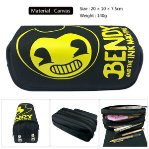 Bendy and the Ink Machine Pencil Case Double Layer Stationery Cosmetic Pen Bag