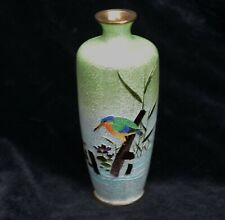 More details for magnificent japanese cloisonne gimbari vase 15 cm