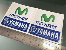 MOVISTAR Decals / Stickers Moto GP Yamaha Factory Racing Team (100mm x 100mm) X2