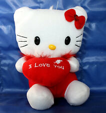 "Hello Kitty Plush with Heart ""I Love You"" 6.5 Inches Red"