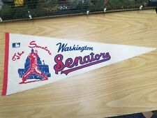 "Vintage MLB 1969 Washington Senators Baseball Pennant 30"" x 12"", Very Good Cond."