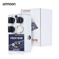 ammoon POCKVERB Reverb Delay Guitar Effect Pedal 7 Reverb Effects+7 Delay New