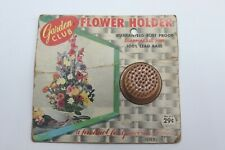 Vintage Garden Club Metal Flower Holder Frog In Package Nos Floral 211 Brass Pin