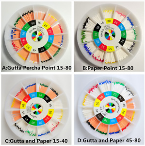 20Pack Dental Gutta Percha Point Absorbent Paper Points #15-80 Mixed Endodontic