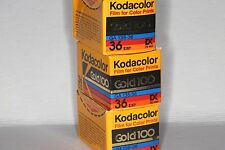 Kodak Kodacolor Gold 100, 36, Display Back removed, Exp. 1992 or prior, Lot of 3