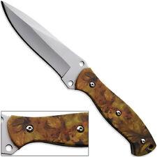 Guerrilla Survival Knife AUS-8 Full Tang Realtree Camo Pattern G10 Handle Tactic