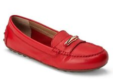 Vionic Orthaheel Ladies HONOR ASHBY Leather Loafers Shoes RED Size 7.5 W NIB