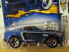 Hot Wheels 1968 Mustang #046 2003 First Editions Blue Highway 35 on card