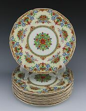 Grindley Tunstall England Lot of (10) Dinner or Cabinet Plates Gorgeous Colors!