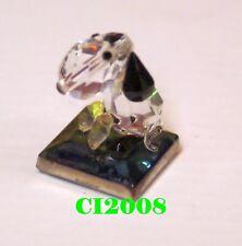 Crystallite Crystal Glass Figurine Snoopy Beagle Dog on Dichroic Base