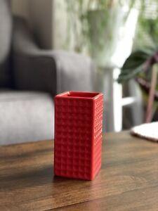 Red Textured Vase